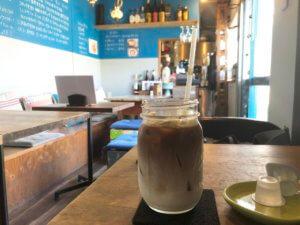 鳴尾|コンテナハウスのお洒落ブルーのカフェ